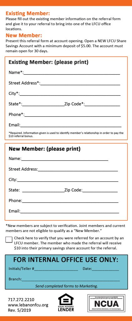 Refer a Friend Form